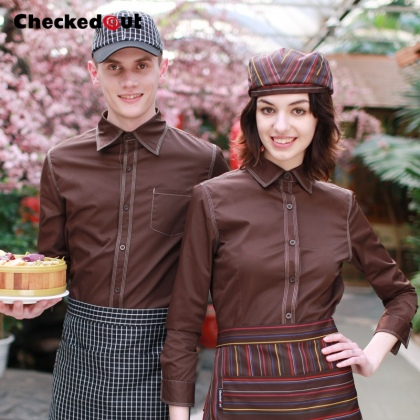 fashion coffee color cafe bar restaurant waitress waiter jacket uniform
