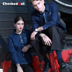professional fashion denim waiter dealer uniform jacket uniform