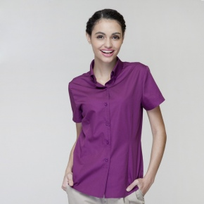 short sleeve purple milk tea shop hot pot restaurant waitress staff uniform