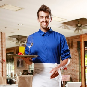 high quality candy restaurant dessert shop waitress men waiter uniform shirt