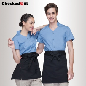 high quality summer thin restaurant dessert shop waitress waiter shirt