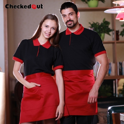 simple restaurant bar pub waiter waitress t-shirt clerk staff uniform unisex