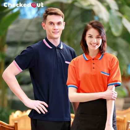 unisex short sleeve summer bar pub waiter waitress women men t-shirt uniform