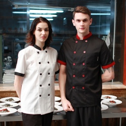 Japanese half sleeve summer sushi chef coat uniforms