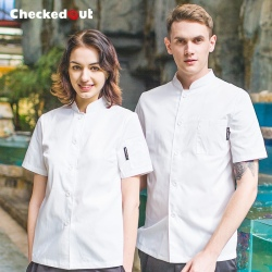 summer white chef baker jacket coat uniform