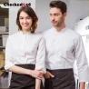 upgrade single breasted fashion restaurant chef jacket uniforms both for women and men
