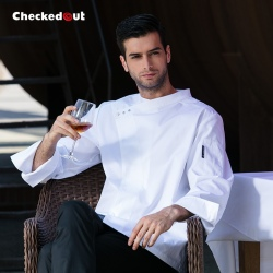 fashion side opening male chef work coat uniforms