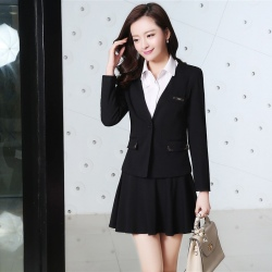 Vogue cute young women office work career dressy skirt suit pant suit