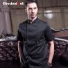 solid color double breasted women men chef uniforms work jacket