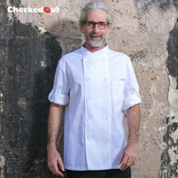 double breasted restaurant white color chef jacket uniforms