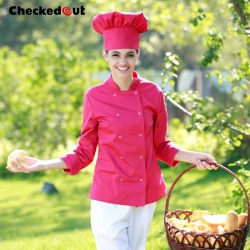 candy color women chef jacket coat female chef uniform