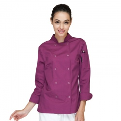 fashion long sleeve women chef jacket coat female chef uniform