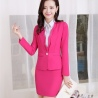 fashion one button business women skirt suit work uniform