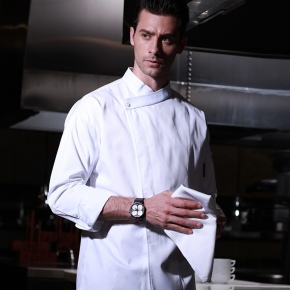 Euerope side closure open chef coat chef jacket