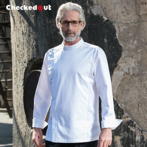 fashion Europe men restaurant chef jacket chef work wear uniforms