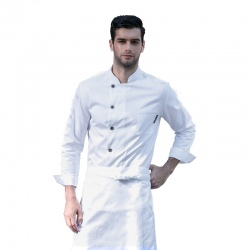 good fabric autumn winter men restaurant chef jacket chef work wear uniforms white color