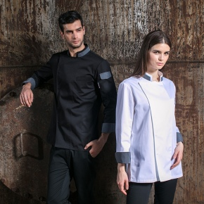 fashion button less restaurant chef jacket chef uniform