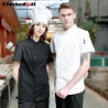 short sleeve summer fast restaurant chef jacket chef uniform