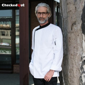black hem white color fast restaurant chef jacket chef cooking uniform