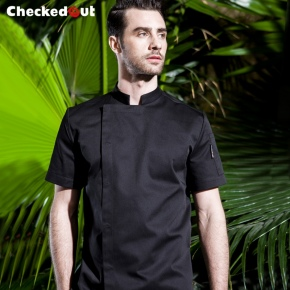 summer invisible button chief chef coat uniform