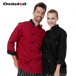 fashion comfortable fabric chef coat uniform jacket