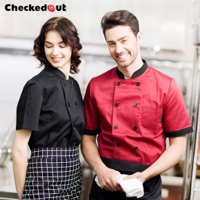 checkedout comfortable fabric chef coat uniform jacket wholesale