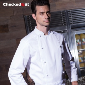 fashion handsome restaurant chef uniform working jacket on sales