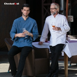 new design causal restaurant chief chef uniform working jacket