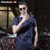 summer short sleeve denim causal restaurant chief chef uniform working wear