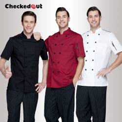 fashion short sleeve bread store clerk chef uniform work jacket