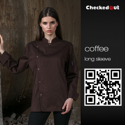 coffee color cafe restaurant bread store staff jacket uniforms 10 pcs free logo