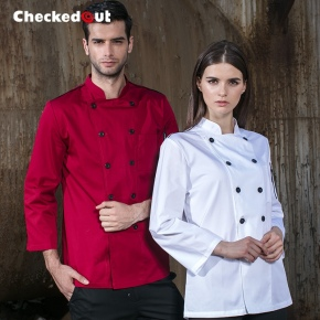 double breasted cafe restaurant bread store staff jacket uniforms 10 pcs free logo