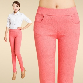 fashion fit jacquard young lady candy pant trousers