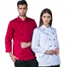 double breasted cafe restaurant bread store staff jacket uniforms black color