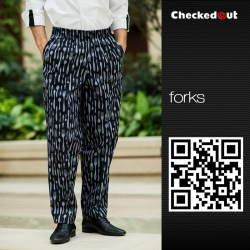 forks printing restaurant chef pant chef trousers uniform