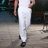 white color restaurant chef pant chef trousers uniform