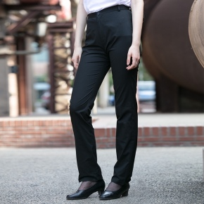 black color chef work pant trousers uniform for women