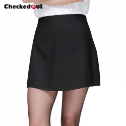 black A-style restaurant waitress women chef work skirt