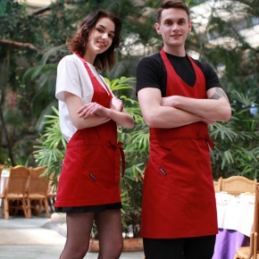 fashion housekeeping apron restaurant waiter halter apron