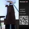 coffee color restaurant cafe pub wait staff apron chef apron wholesale