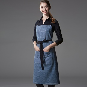 hot sale Europe popular restaurant denim Chef apron waiter apron