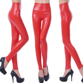 Asian Design women pencil pant leather pant legging