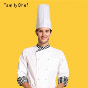 high quality paper disposable chef hat white black color wholesale