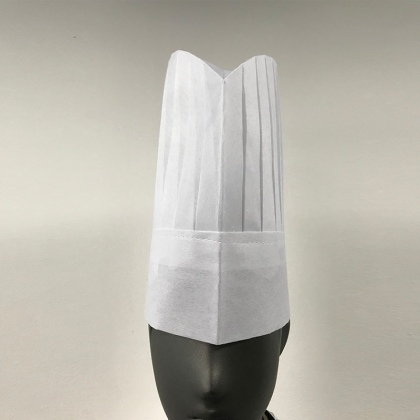 29 cm Non-woven fabric disposable chef hat white black color 20 pcs/lot wholesale