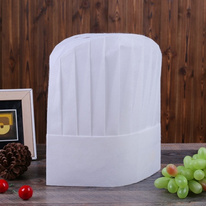 high quality round top disposable unisex chef hat white 10 pcs/lot