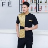 fashion gold ktv bar pub waiter shirt jacket uniform for women and men
