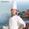 Non-woven disposable unisex chef hat (size 29cm) white black color 20 pcs/bag wholesale