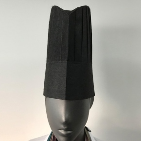 high quality Non-woven disposable chef hat white black color 20 pcs/bag wholesale