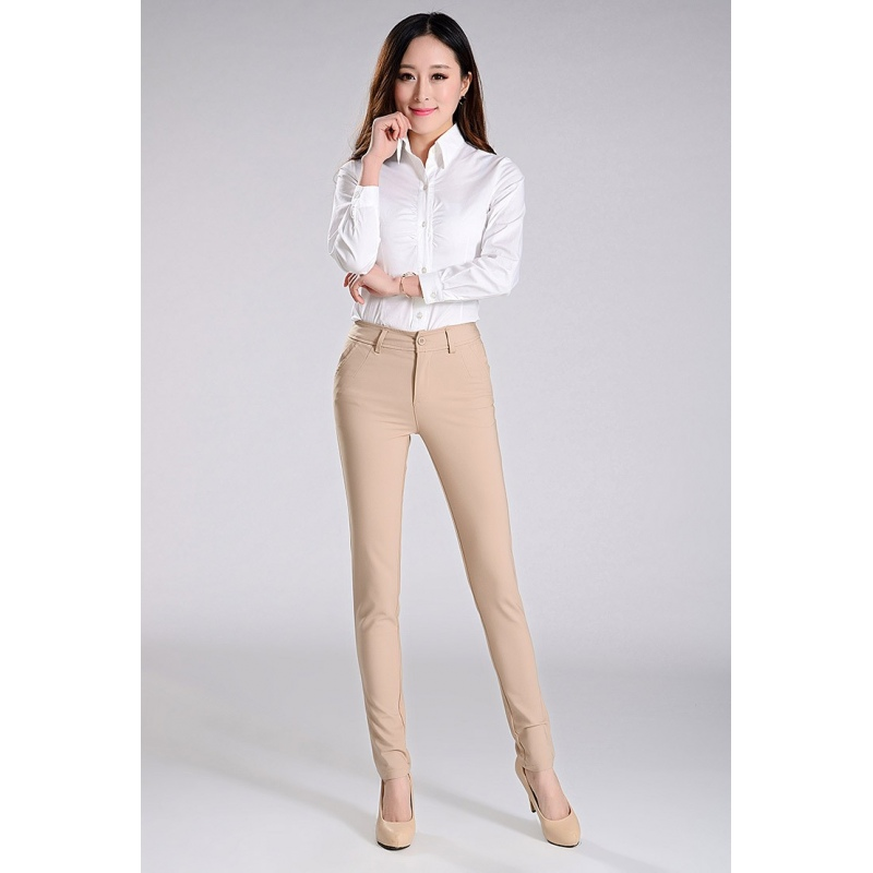 Excellent Formal Office Lady Women Full Length Pencil Pant Straight Leg Pant