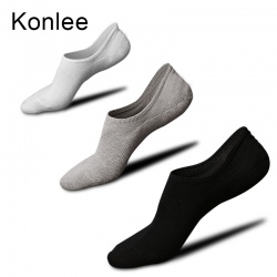 summer casual silicone heel fashion cotton socks for men